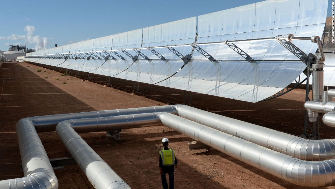 "Morocco has <a href=""https://www-cif.climateinvestmentfunds.org/projects/morocco-noor-ii-and-iii-csp"" target=""_blank"">committed to increasing</a> its share of renewable energy generation to 42% by 2020."