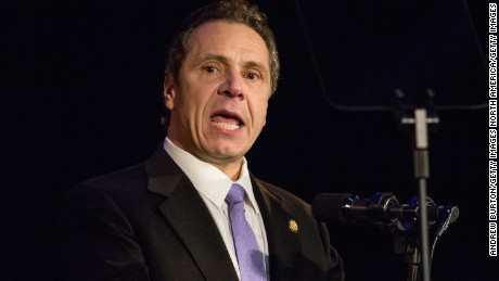 New York Gov. Andrew Cuomo at a rally earlier this year.