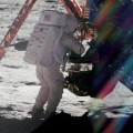 Armstrong on lunar surface