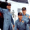 Apollo 13 crew portrait after splashdown