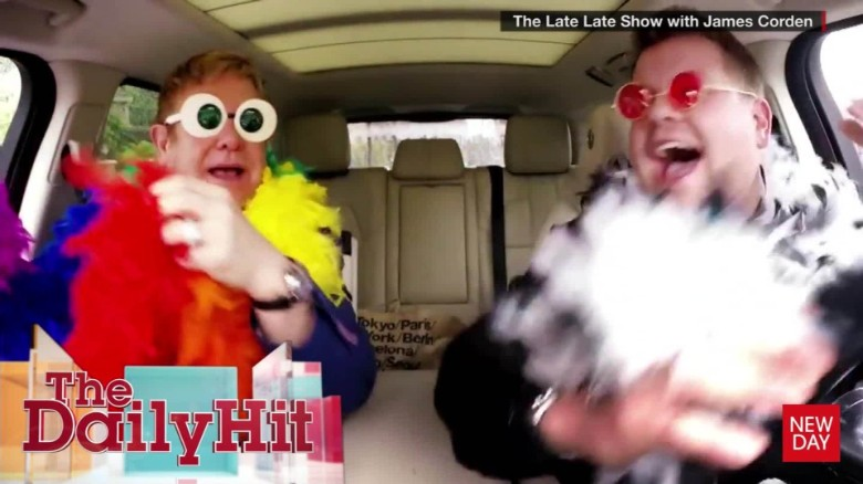 Elton John sings in carpool karaoke