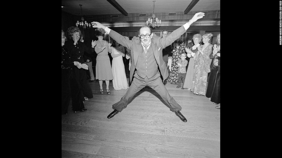 A man dances at a wedding in Rockville Centre, New York, in March 1976.