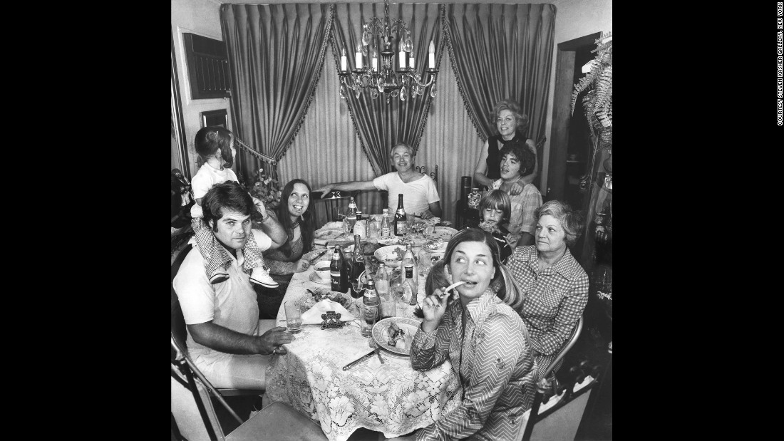 Meisler's relatives celebrate Rosh Hashanah, the Jewish New Year, in September 1974.