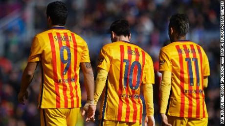 Barcelona's formidable forward line is the most feared in world football.