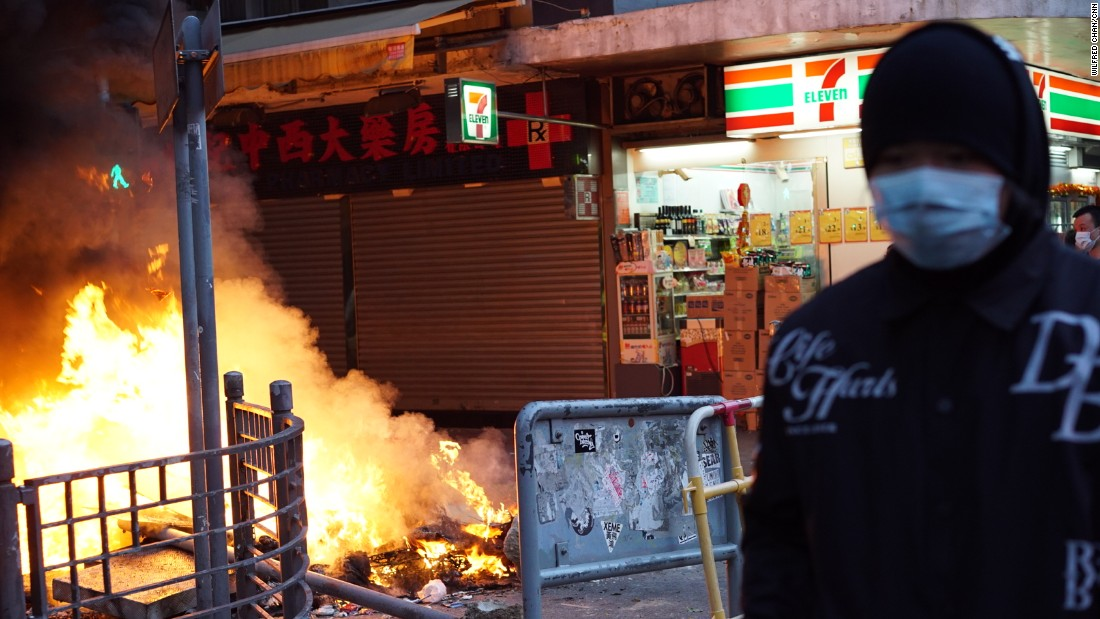 Lunar New Year celebrations in the city turned chaotic as protesters and police clashed over a street market selling fishballs and other local street food. Protests sparked by government officials attempting to clear street food vendors spilled over into Tuesday morning local time.