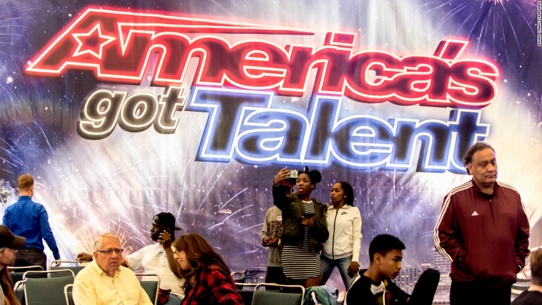 "Contestants take selfies at the Los Angeles auditions for ""America's Got Talent"" on Saturday, February 6."