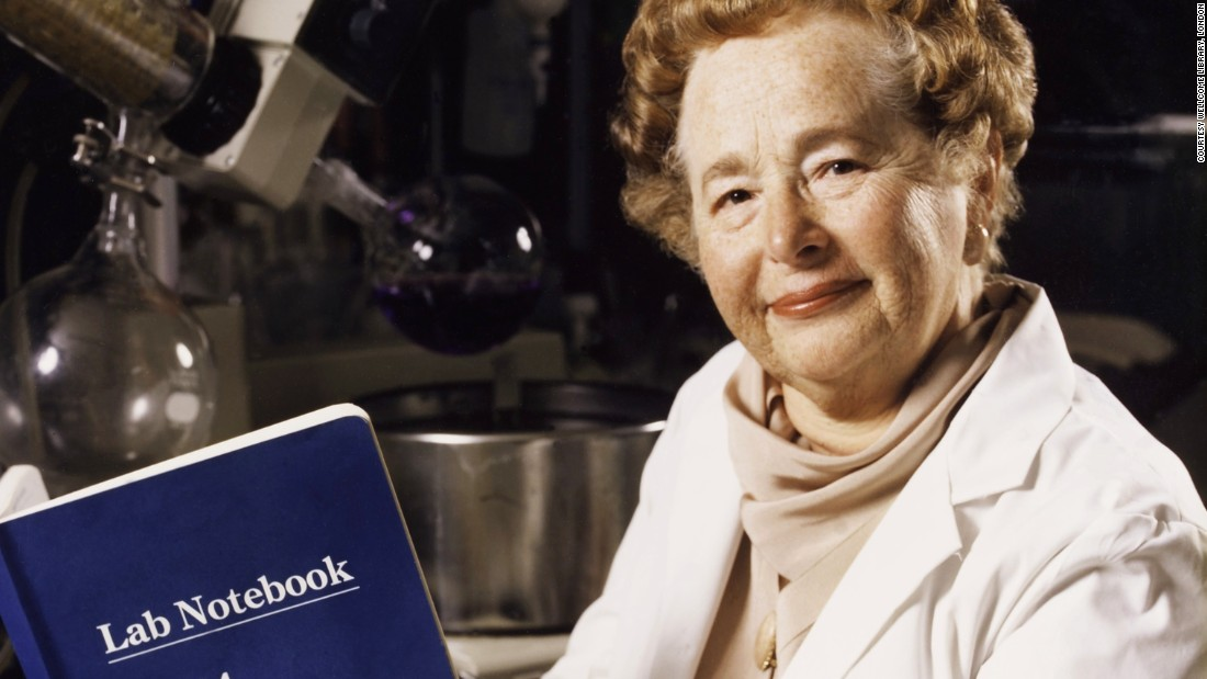 Gertrude Elion (1918-1999) was a U.S. biochemist. Her research led to the development of many drugs, including ones used to treat malaria, herpes, meningitis and leukemia. In 1988, Elion, together with George Hitchings and Sir James Black, received the Nobel Prize in Physiology or Medicine for their insight into the principles of drug treatments. She later became the first female to be inducted into the National Inventors Hall of Fame.