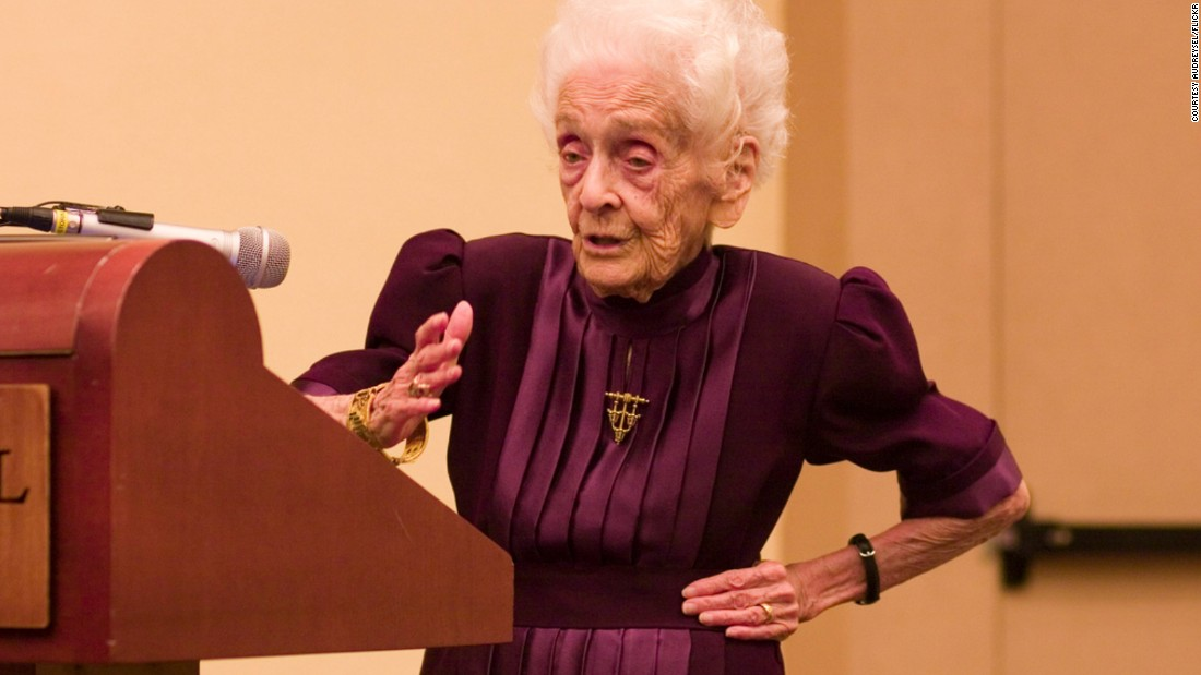 Rita Levi-Montalcini (1909-2012) was an Italian neuroscientist known for her work in neurobiology. Along with Stanley Cohen, she won the 1986 Nobel Prize in Physiology or Medicine for their discovery of nerve growth factor, a protein controlling growth and development. Prior to her death in 2012, she was the oldest living Nobel laureate and first ever to reach their 100th birthday.