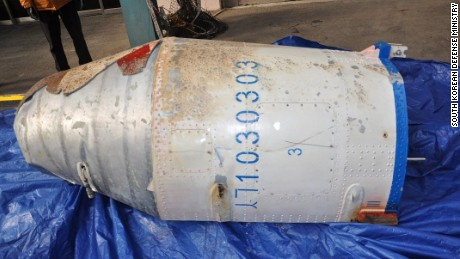The debris is believed to come from a long-range rocket North Korea fired on Sunday, February 7.