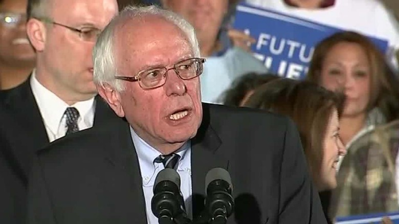 Bernie Sanders declares victory in New Hampshire