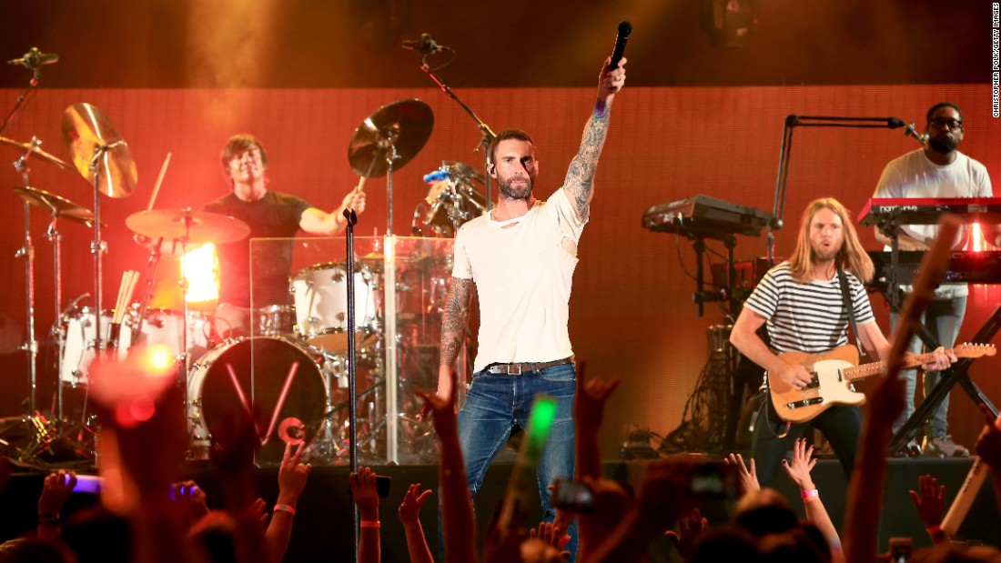 "The Los Angeles group <strong>Maroon 5's</strong> album ""Songs About Jane"" went platinum in 2004. The next year, the band beat out rapper Kanye West to win the Grammy for best new artist. The group released its fifth album in 2014. Lead singer Adam Levine is a judge on NBC's ""The Voice."""