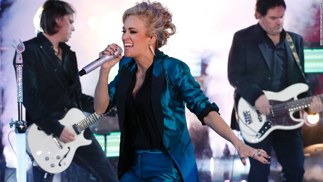 "<strong>Carrie Underwood</strong> first became known to audiences with her 2005 win on ""American Idol."" In 2007, the Oklahoma country singer won best new artist at the Grammys, one of many awards she has on her shelf. Her more recent hits include ""Blown Away"" and ""Two Black Cadillacs."" She's also done some acting, starring as Maria von Trapp in NBC's live version of ""The Sound of Music."""