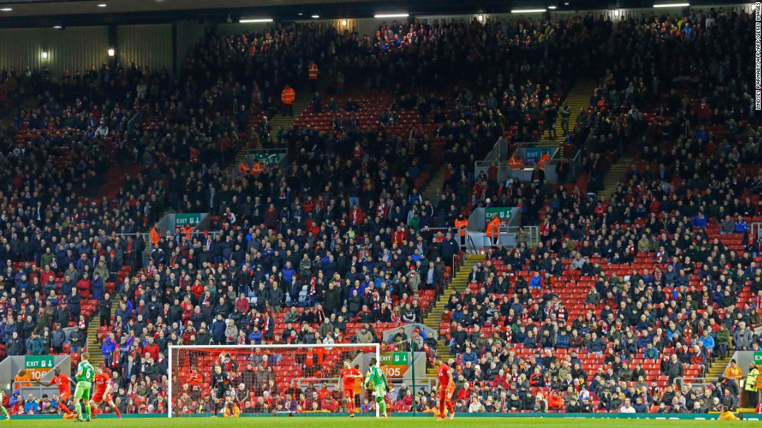 It wasn't the first time this week fans have protested against increased ticket prices. Thousands of Liverpool fans staged a walkout in the 77th minute of the team's Premier League tie against Sunderland Saturday.