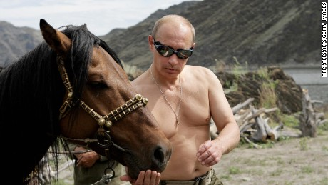 Could Russian President Vladimir Putin's way with horses be down to his facial expression?