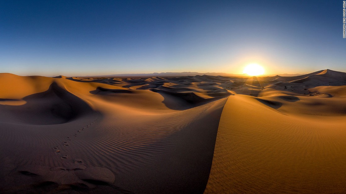 """This is taken on a regular day and shows what a desert is supposed to look like -- dry and hot white sands shining under the sunlight.""<br />"