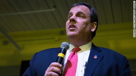 Republican Presidential candidate New Jersey Governor Chris Christie holds a town hall meeting at Dynamic Network Services on February 8, 2016 in Manchester, New Hampshire.