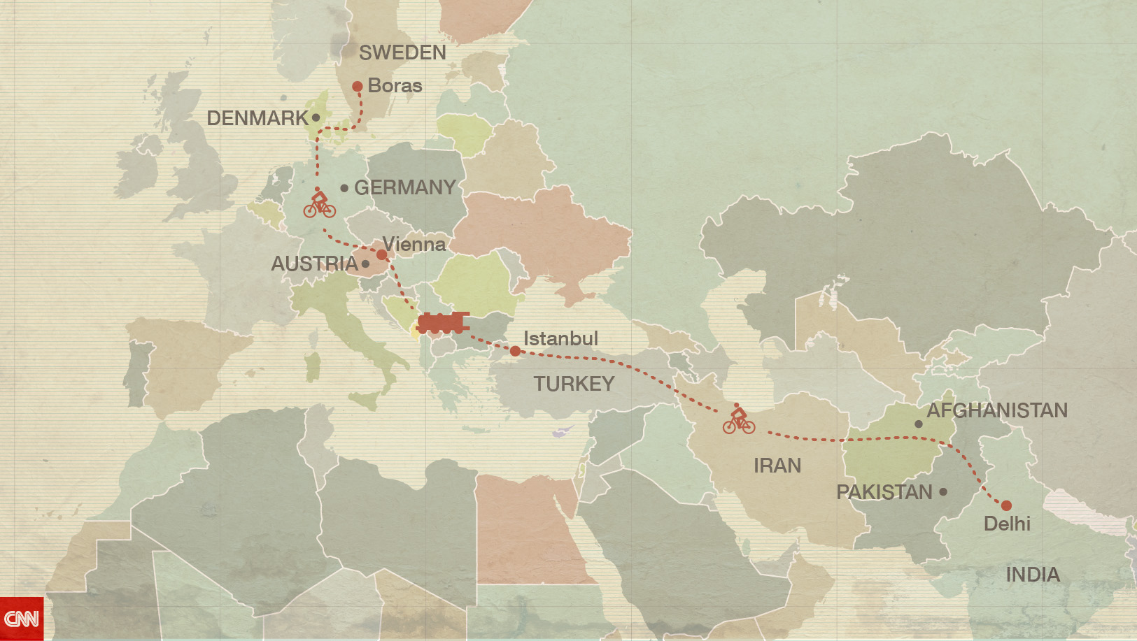 From India To Sweden By Bike An International Love Story CNN - Sweden map boras