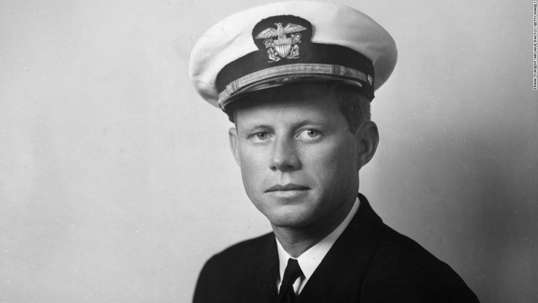 Kennedy enlisted in the military shortly after graduating from Harvard in 1939. As a Navy lieutenant in World War II, Kennedy commanded a torpedo boat in the South Pacific and survived a harrowing crash with a Japanese vessel that killed two of his men. He later earned a medal for rescuing most of his crew. His older brother Joe died in the war on a separate mission.