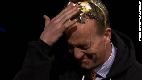 Peyton Manning gets egged on Fallon
