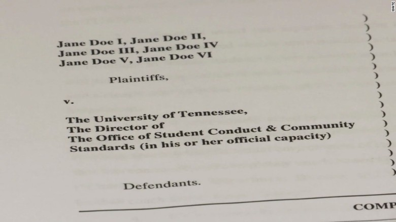 Six women sue University of Tennessee