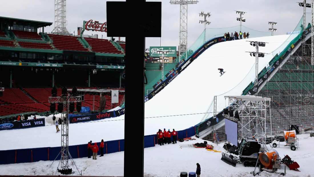 The baseball stadium has been transformed for the U.S. Grand Prix and FIS World Cup meet which takes place on Thursday and Friday.