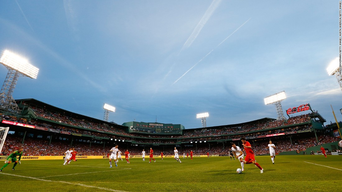 Another type of football. Liverpool faced off against Roma at Fenway Park in 2012 and 2014. Fenway Sports Group owns both Liverpool and the Boston Red Sox.