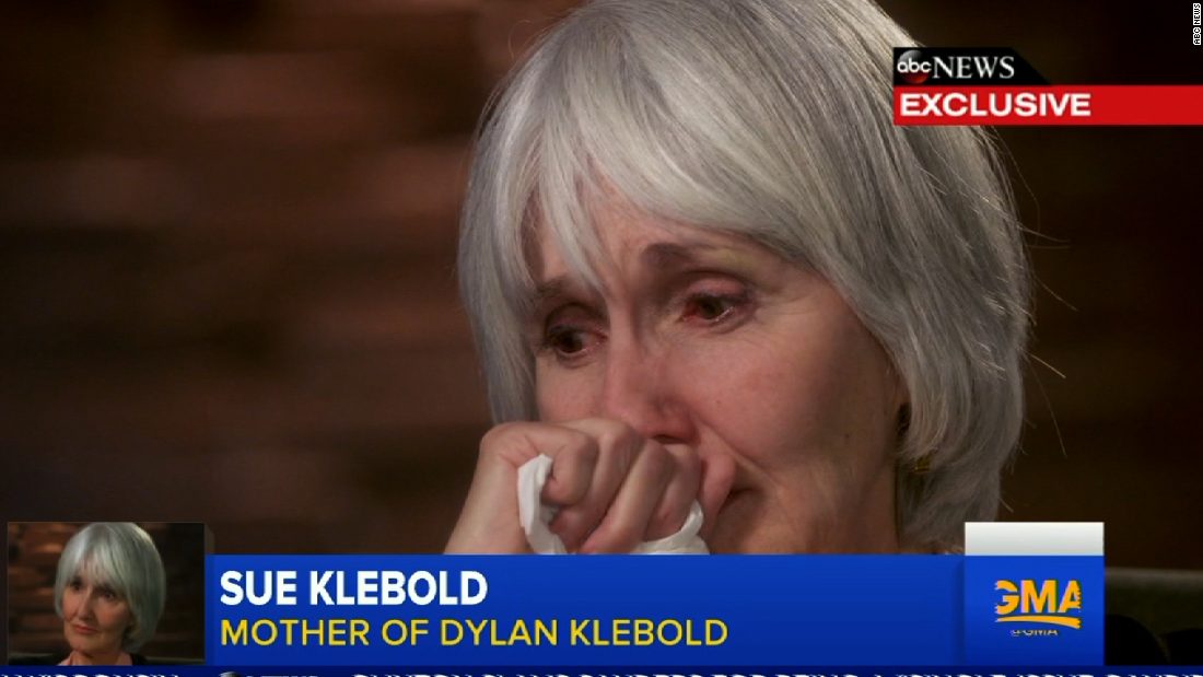Mother of Columbine killer Dylan Klebold gives first TV interview