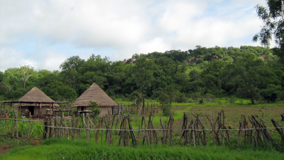 The verdant village of Ndebou, in southeastern Senegal. The warm climate of Senegal makes it an ideal breeding environment for mosquitoes, particularly in the wet season.