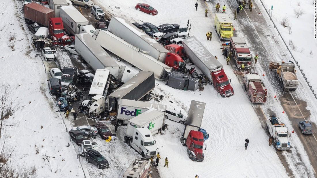 Deadly Pileup On I 78 In Pennsylvania 50 Vehicles Cnn
