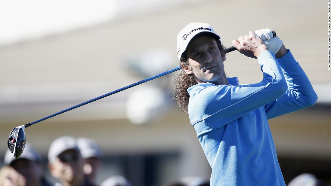 This songbird sure can swing. Saxophonist Kenny G is another keen golfer who frequently attends the event.