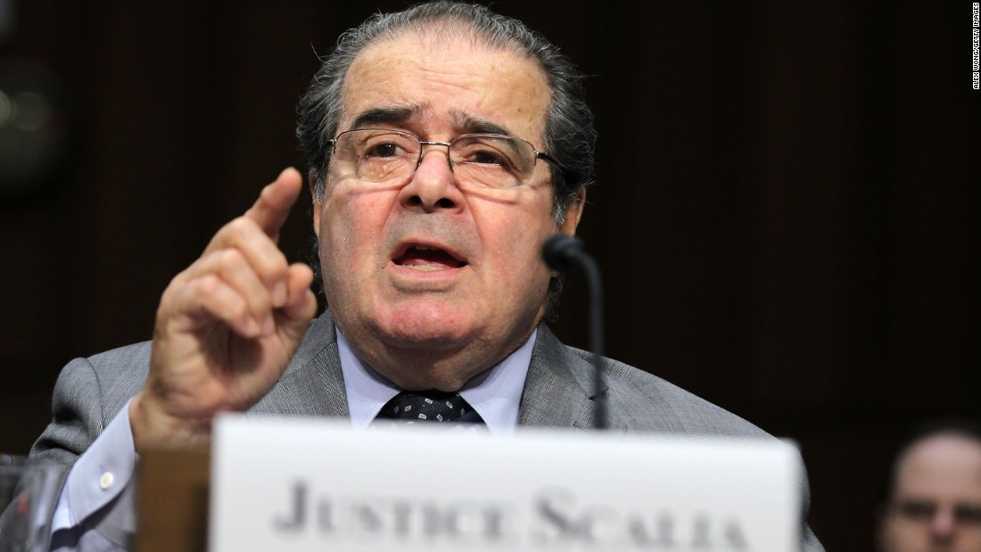 "Scalia testifies during a hearing before the Senate Judiciary Committee on October 5, 2011. The justice testified on ""Considering the Role of Judges Under the Constitution of the United States."""