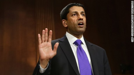WASHINGTON, DC - APRIL 10:  Principal Deputy Solicitor General of the United States Srikanth Srinivasan is sworn in before testifying to the Senate Judiciary Committee on Capitol Hill April 10, 2013 in Washington, DC. (Photo by Chip Somodevilla/Getty Images)