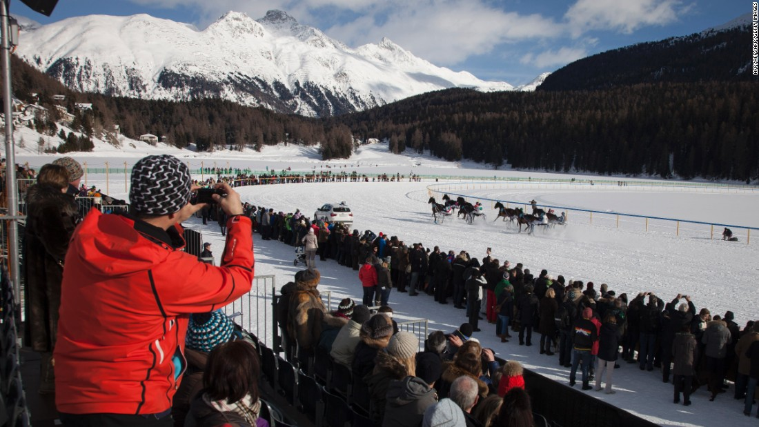 Some 35,000 spectators flock to White Turf each year, eager to take in the sight of the horses thundering across the frozen lake among the snow-capped mountains of St. Moritz.