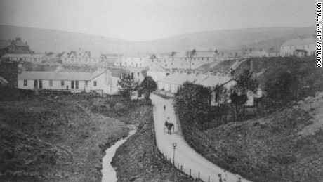 The village of Glenbuck pictured in its heyday.