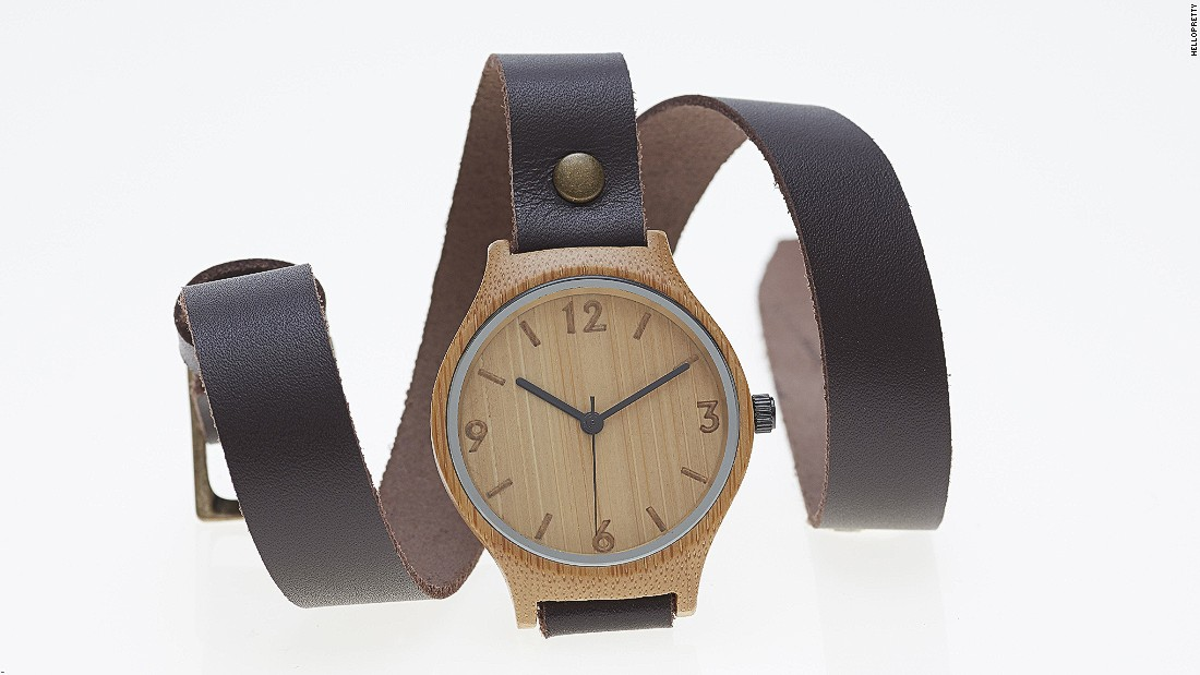 One of Hello Pretty's most popular products is from store Bamboo Watch Revolutions, who say they are one of the first companies to develop a watch face made from bamboo.