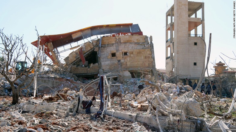 2 hospitals and school struck in Syria