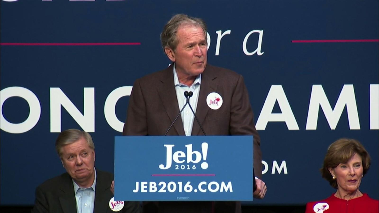 George W Bush Comes To Jeb Bush S Rescue Cnnpolitics