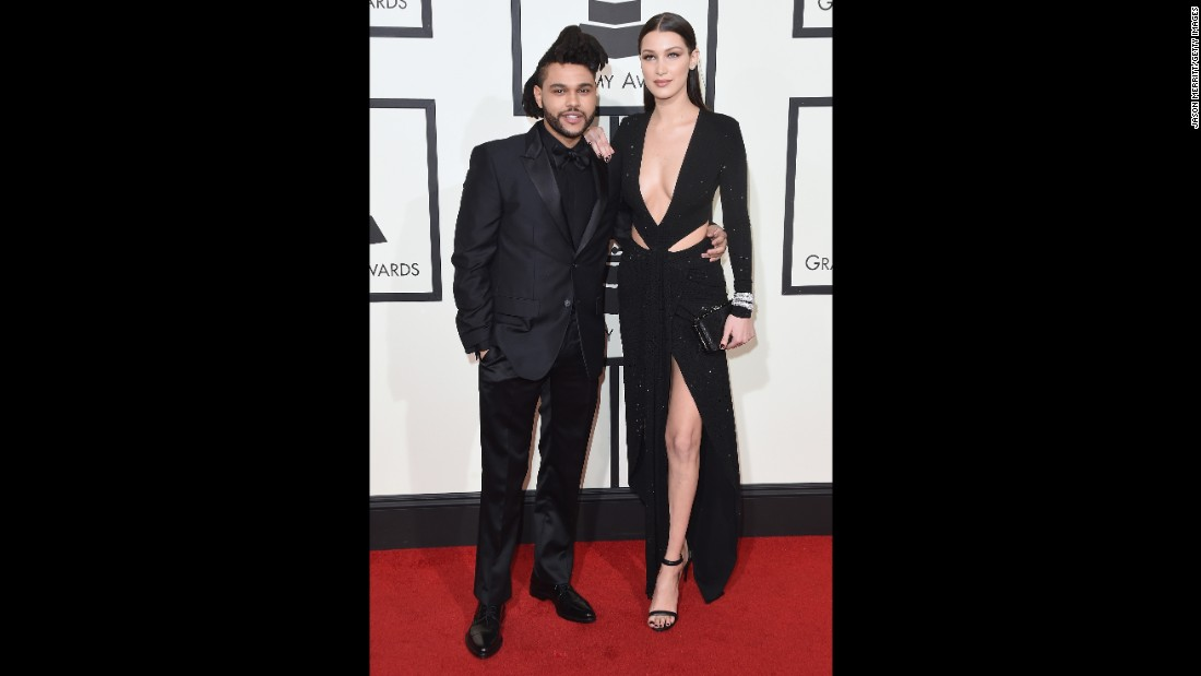 The Weeknd and his girlfriend, model Bella Hadid