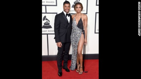 Russell Wilson and Ciara attend the Grammys in February.