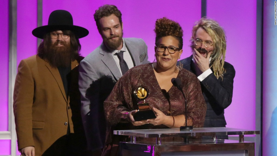 """Sound & Color,"" Alabama Shakes. The band later won best rock performance for ""Don't Wanna Fight."""
