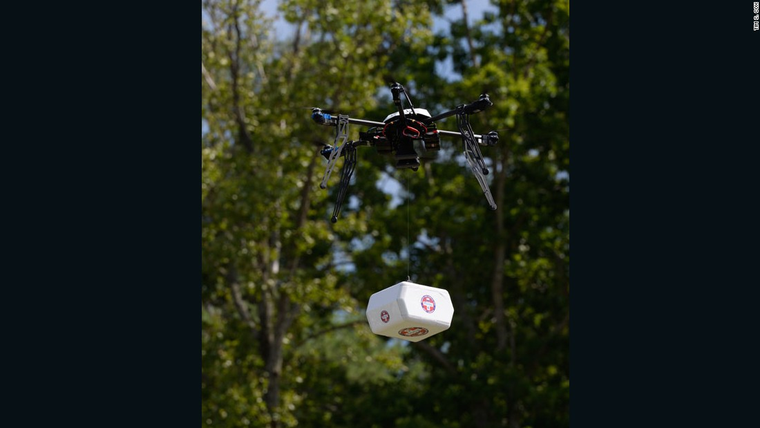 In 2015, the first use of drones to collect medical supplies and transport them over rugged terrain in the state of Virginia was approved by the US government. This Flirtey non-military drone delivered medical supplies in Wise County, Virginia.