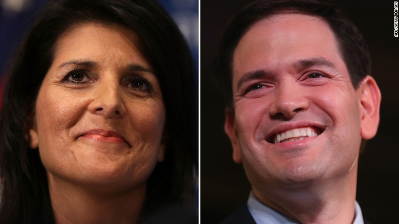 South Carolina Gov. Nikki Haley endorses Marco Rubio