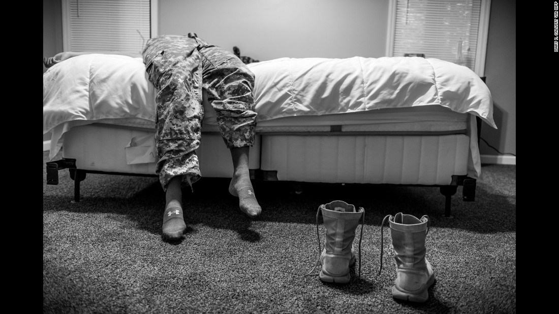 This series portrays women who have been raped or sexually assaulted during their service with the U.S. Armed Forces.