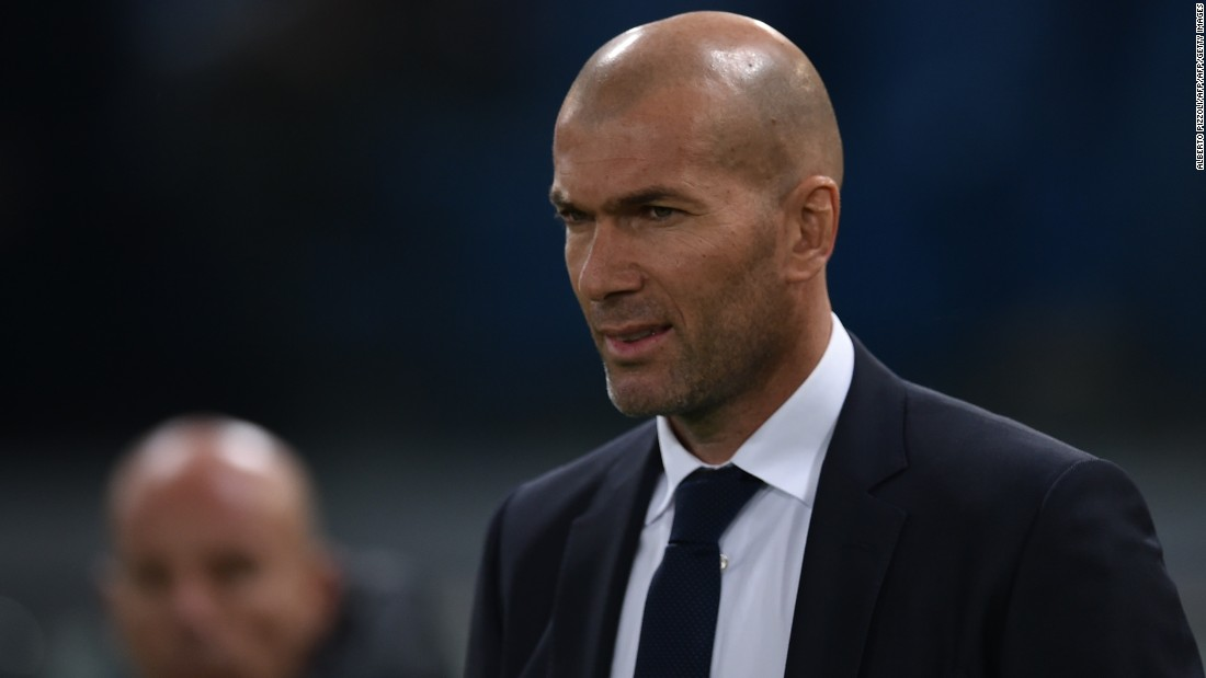Zinedine Zidane, the Real Madrid manager, played in Italy with Juventus. He was taking charge of his first ever Champions League tie.