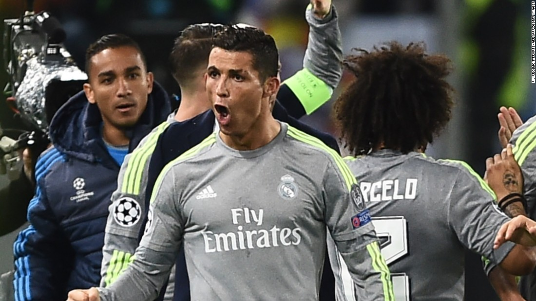 Real stepped up the pressure after the interval and Ronaldo broke the deadlock with a stunning drive which took a slight deflection before finding the far corner.