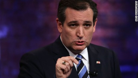 Ted Cruz participates in a CNN South Carolina Republican Presidential Town Hall on February 17, 2016, in Greenville, South Carolina.