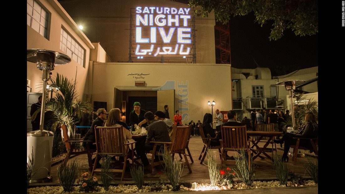 """Saturday Night Live in Arabic"" is performed in the shadow of the Great Pyramids of Giza at Studio Misr, Egypt's oldest production house."