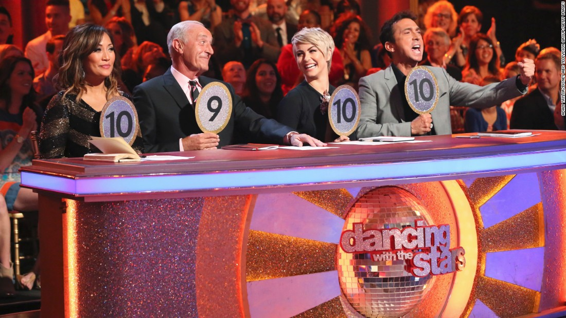 "Carrie Ann Inaba, from left, Len Goodman, Hough and Bruno Tonioli have all judged ""Dancing With the Stars"" contestants over the years. Goodman, who skipped last season, will return for season 22. <br />"