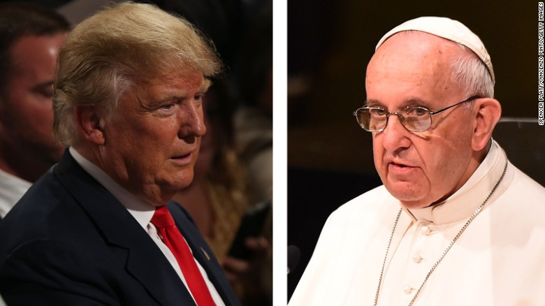 Donald Trump on defense over Pope Francis, Iraq war