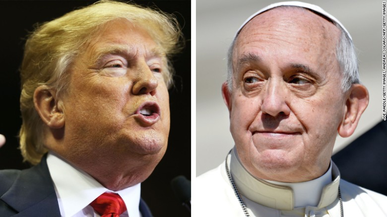 Things Donald Trump has said about the Pope